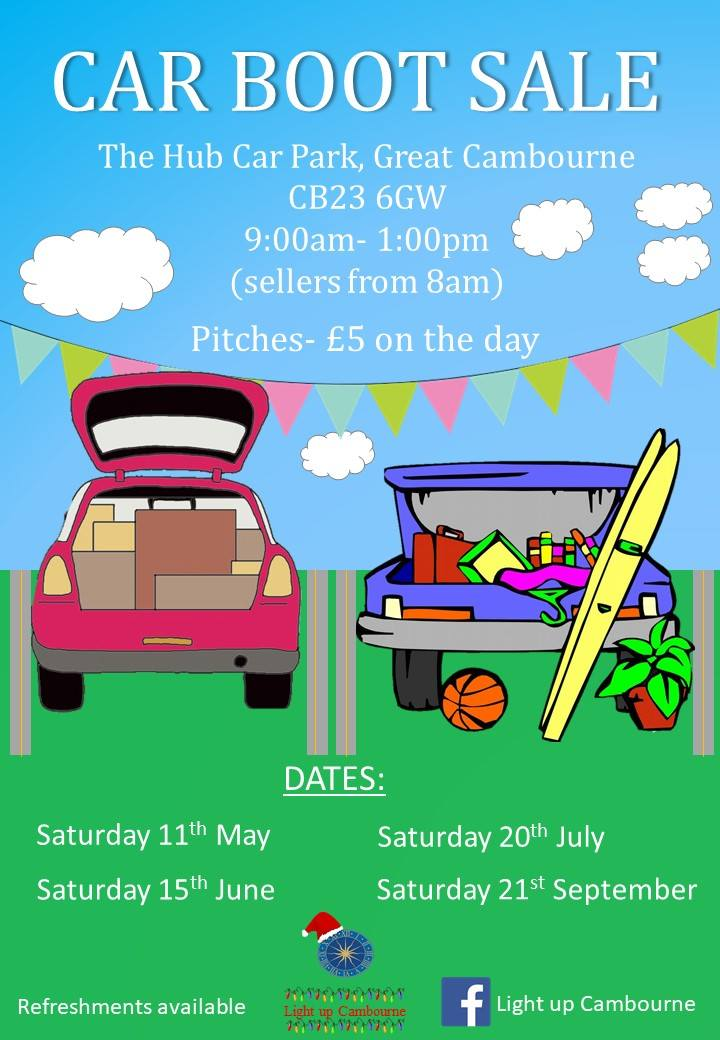 Light Up Cambourne Car Boot Sale Cambourne Information